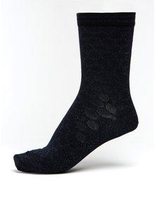 Tmavě modré dámské třpytivé puntíkované bambusové ponožky mp Denmark Ursa