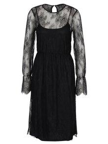Černé krajkové šaty VERO MODA Swan