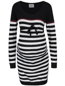 Rochie pulover cu dungi alb & negru Mama.licious Anic