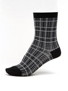Černé dámské kostkované ponožky mp Denmark Julia