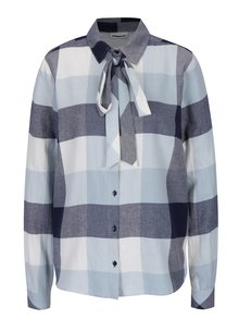 Krémovo-modrá kostkovaná košile VERO MODA Erik