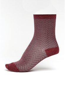 Růžové dámské třpytivé vzorované ponožky mp Denmark Yao