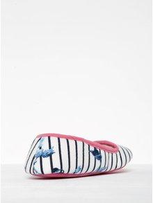 Růžovo-krémové pruhované papuče Tom Joule Dreama