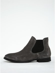 Sivé semišové chelsea topánky Selected Femme Beathe