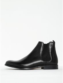 Černé pánské kožené chelsea boty Royal RepubliQ