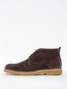 Tmavohnedé pánske členkové semišové topánky Royal RepubliQ