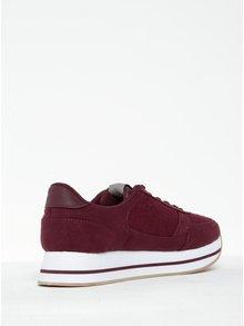 Pantofi sport roșu bordo  ONLY Smilla