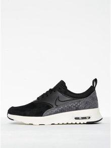Čierne dámske semišové tenisky so štruktúrovanými detailmi Nike Air Max