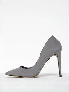 Pantofi stiletto gri cu varf ascutit - Miss Selfridge