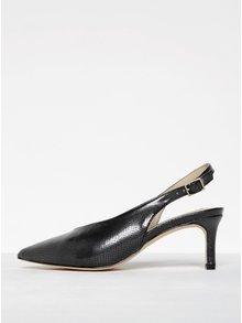Tmavosivé sandáliky s hadím vzorom Miss Selfridge