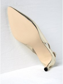 Lesklé sandálky ve zlaté barvě s hadím vzorem Miss Selfridge