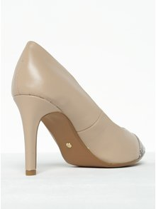 Pantofi bej cu toc și vârf ascuțit Dorothy Perkins