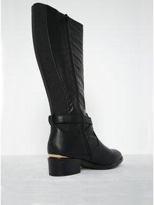 Cizme negre wide fit cu detalii aurii Dorothy Perkins