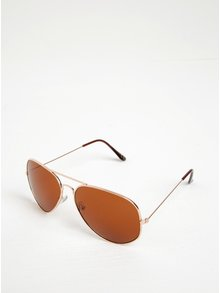 Sluneční brýle ve zlaté barvě ONLY & SONS Aviator