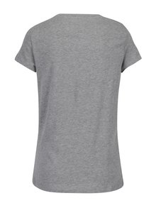 Svetlohnedé melírované tričko s krátkym rukávom a potlačou VERO MODA Dance Studio