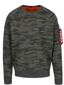 Bluză sport cu print camuflaj și buzunar pe mânecă pentru bărbați ALPHA INDUSTRIES