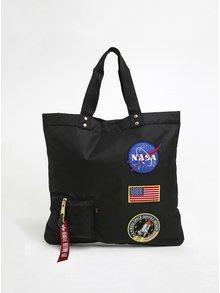 Černá dámská taška s nášivkami ALPHA INDUSTRIES