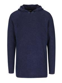 Tmavě modrý svetr s kapucí ONLY & SONS Hugh