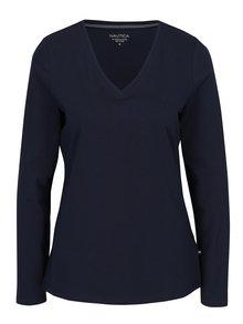 Tmavě modré dámské tričko s dlouhým rukávem Nautica