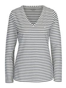 Bluză crem&negru cu decolteu encoeur Nautica