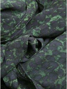 Zeleno-modrý vzorovaný šátek VERO MODA Katrine