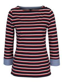 Červeno-modré pruhované tričko s 3/4 rukávem Nautica