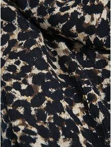 Eșarfă animal print crem & maro - VERO MODA Katrine