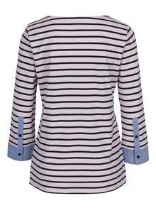 Světle růžové pruhované tričko s 3/4 rukávem Nautica