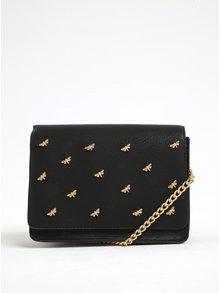 Čierna crossbody kabelka s aplikáciou v zlatej farbe VERO MODA Bia