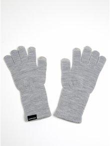 Svetlosivé žíhané rukavice VERO MODA Nete