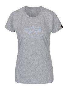 Tricou gri cu print logo pentru femei ALPHA INDUSTRIES