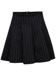 Černo-bílá vzorovaná mini sukně do pasu TALLY WEiJL