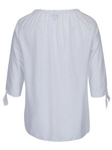 Bluză albă cu decolteu pe umeri -  Gina Laura