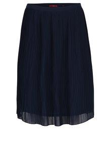 Tmavomodrá plisovaná sukňa s.Oliver