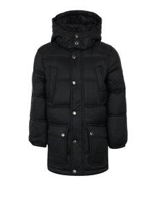Čierna chlapčenská prešívaná bunda s kapucňou Tom Joule Brampton