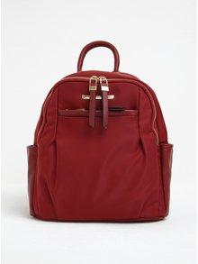 Červený batoh s koženkovými detaily Gionni Julia