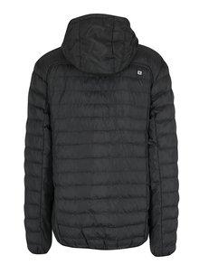 Černá pánská prošívaná nepromokavá bunda s kapucí LOAP Isop