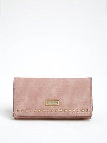 Portofel roz cu detalii aurii Gionni Loretta