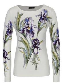 Krémový dámsky kvetovaný sveter M&Co