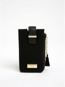 Čierne puzdro na smarthpone s vreckom na karty Gionni Viollette