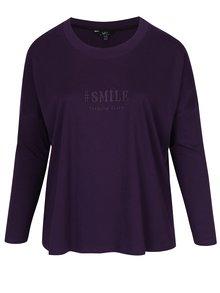 Tmavě fialové tričko s výšivkou Ulla Popken