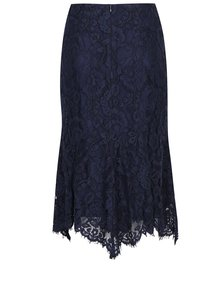 Tmavě modrá krajková sukně s volánem M&Co