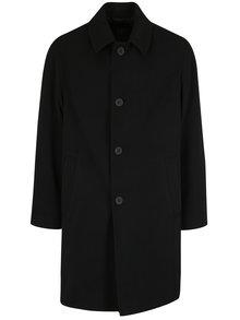 Čierny vlnený kabát s vreckami JP 1880