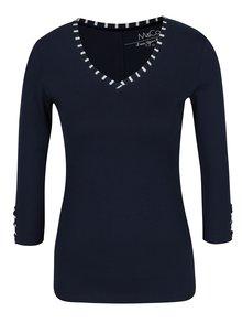 Bluză bleumarin cu garnitură în dungi M&Co