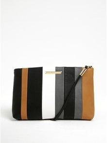 Šedo-černá pruhovaná crossbody kabelka/psaníčko Gionni Madolen