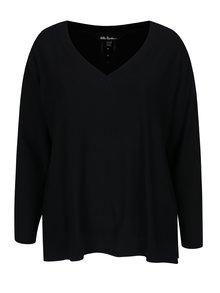 Černý svetr s perforovanými detaily Ulla Popken