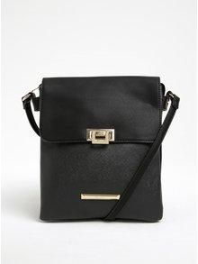 Čierna crossbody kabelka so sponou v zlatej farbe Gionni Lyra