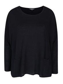 Tmavomodrý sveter s vreckami Ulla Popken