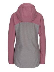 Ružovo-sivá dámska softshellová nepremokavá bunda LOAP Lusidam