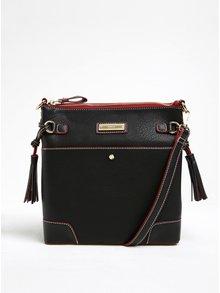 Černá crossbody kabelka s červenými detaily Gionni Solaine